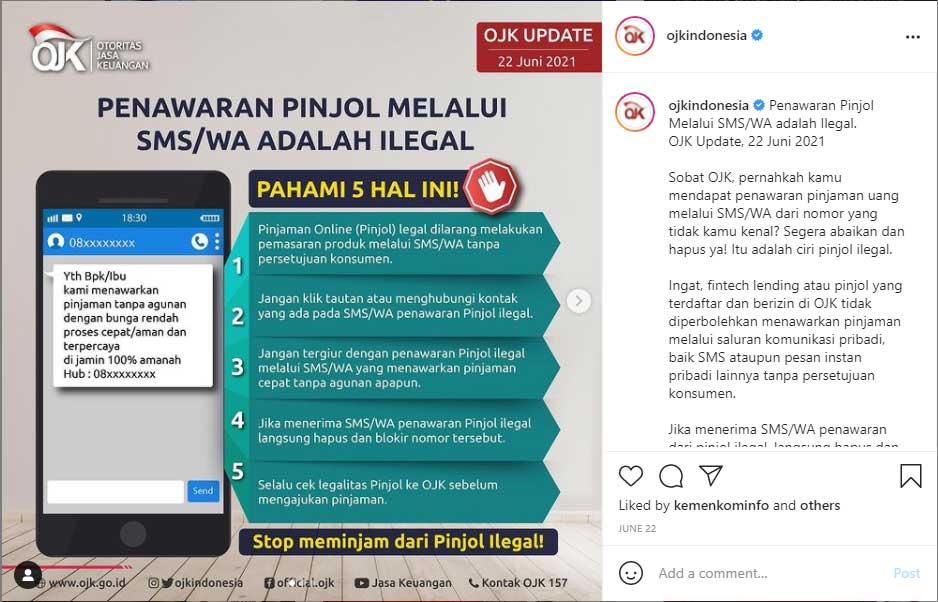 Pinjol Ilegal Akan Menawarkan Pinjaman Melalui SMS/WA